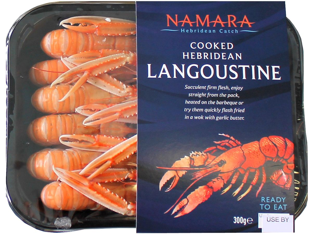 Cooked Hebridean Langoustine - 300g tray