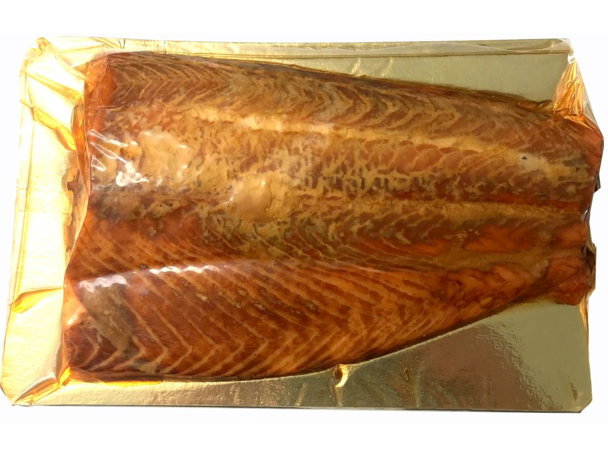 Hot Oak Smoked Salmon – half a side
